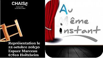 #Au même instant en répétition pour Chaise qui sera jouée le 22 octobre à Holtzheim